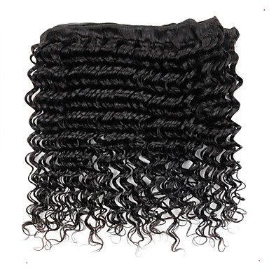 La mejor, pero no la más costosa brasileña Deep Wave Hair Products 100% brasileña de la armadura del cabello humano 10-30 Inchs Pure Color Hair Extension