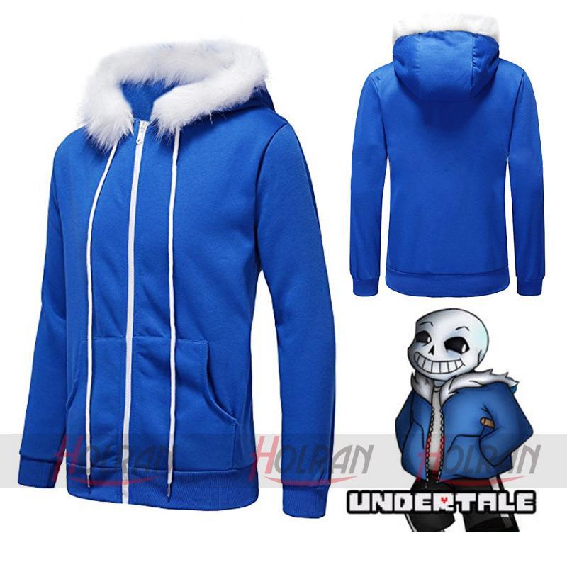 High-Q Unisex Undertale Sans Sansy Cos Kapuzenjacke Cardigan Sweatshirts Jacke Coat Top