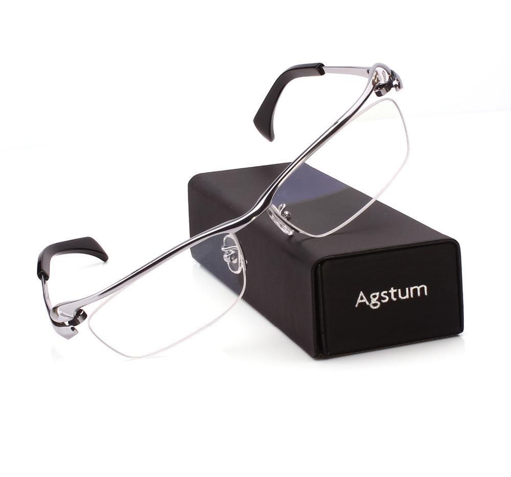 Großhandel Agstum Reine Titan Herren Half Rim Bussiness Brillen ...