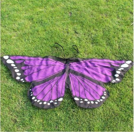 Los nuevos muchachos de las muchachas de los niños Hada de la mariposa del partido del traje del vestido de lujo hasta el juego de simulación Moda alas de la mariposa