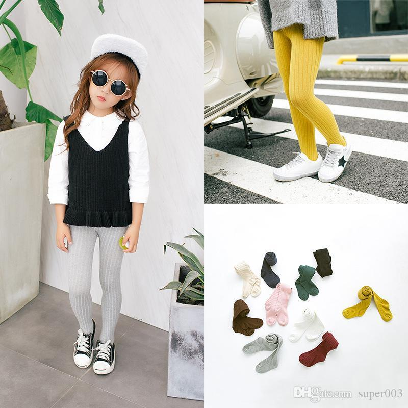 2018 Colorful Soft Children Clothing Stocking Candy Color Toddler Kids Tights High-end Infant Baby Pantyhose Suit For2-6Y 14-341