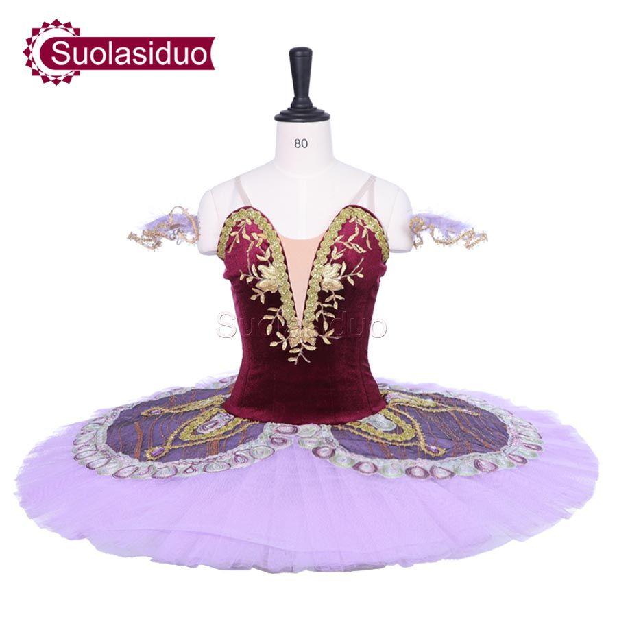 Adult Dark Red Classical Ballet Tutu Purple The Nutcracker Stage Performance Costumes Children Ballet Dance Apperal Girls Ballet Skirt
