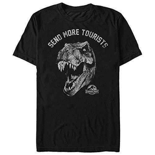 Летние футболки Парк Юрского периода мужская отправить больше туристов футболка с коротким рукавом футболки
