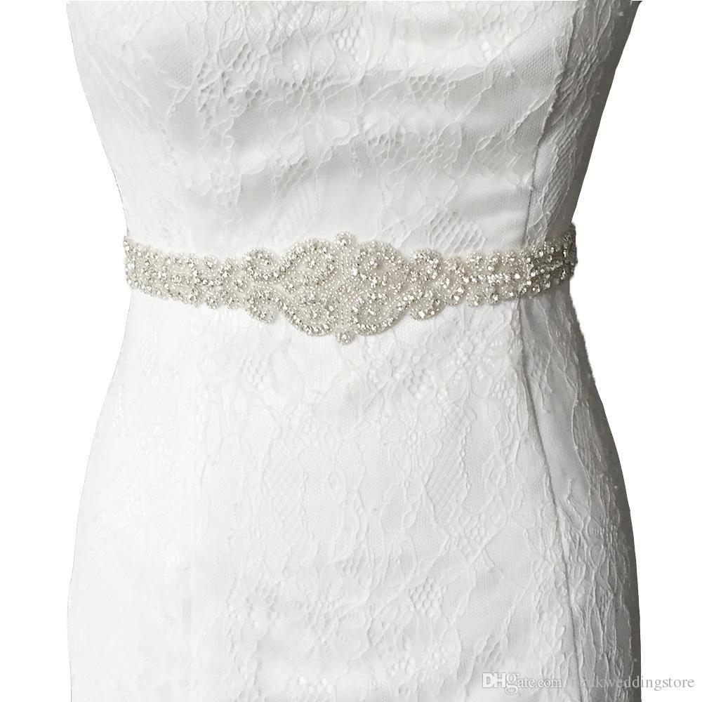 2018 S175 Women's Fashion Luxurious Crystal Rhinestone Wedding Bride Bridesmaid Sash Belt For the Evening Party Dress