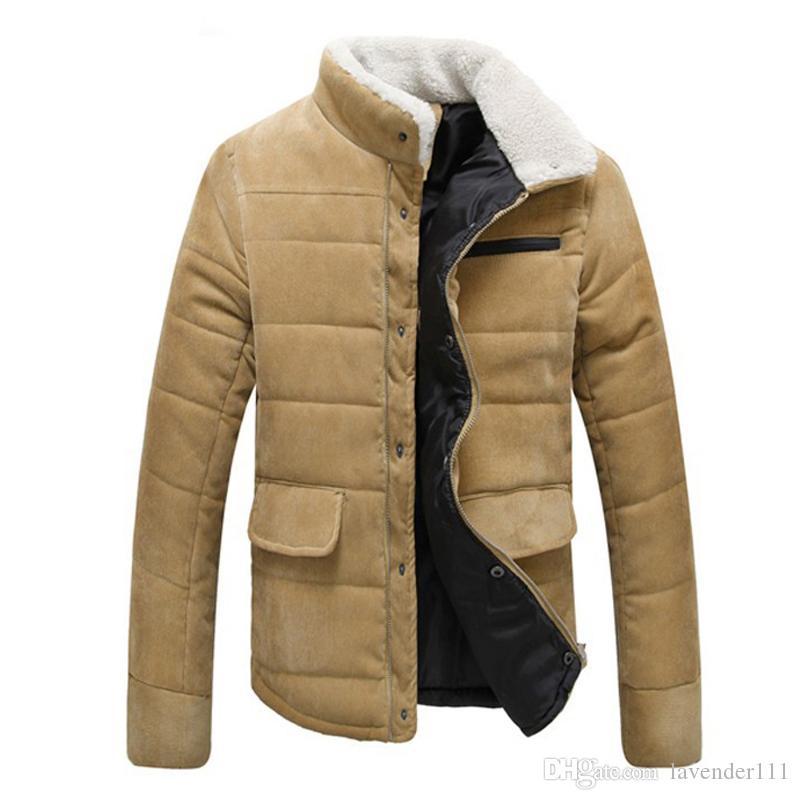 Sonbahar Kış erkek Standı Kürk Yaka Ince Fif Fashional Ceket Dört Renk Yeni Varış Katı Yumuşak Adam Ceket