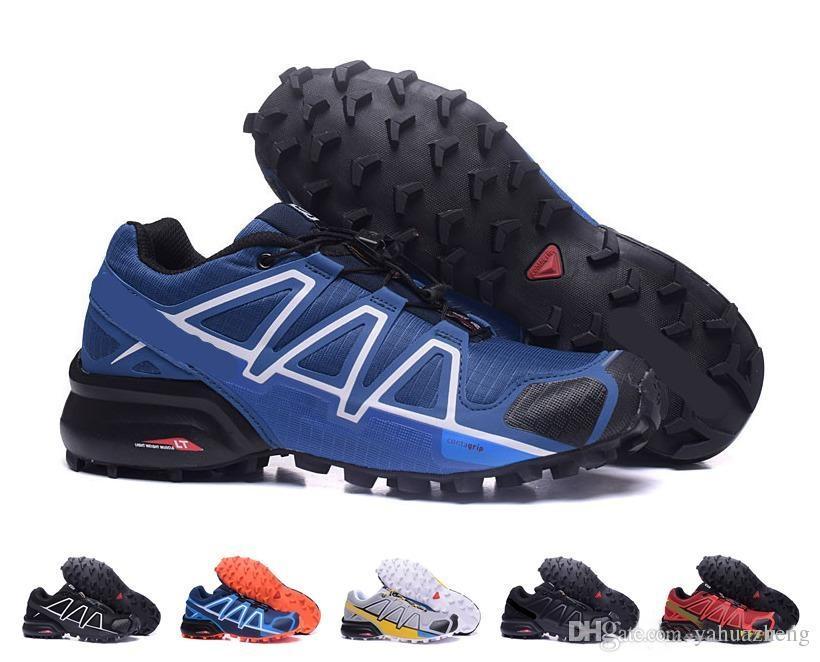 2018 recién llegado Zapatillas para hombre correr zapatillas Speedcross 4 CS zapatos a prueba de agua al aire libre senderismo zapatos tamaño EUR 40-47 envío gratuito