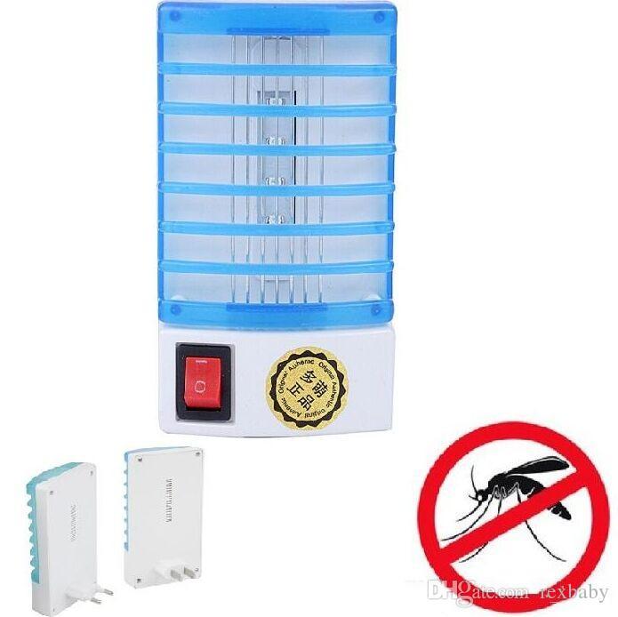 Mini LED tipo de luz nocturna Zócalo eléctrico repelente de mosquitos Insecto Asesino Asesino Lámpara nocturna Zapper 110 / 220v