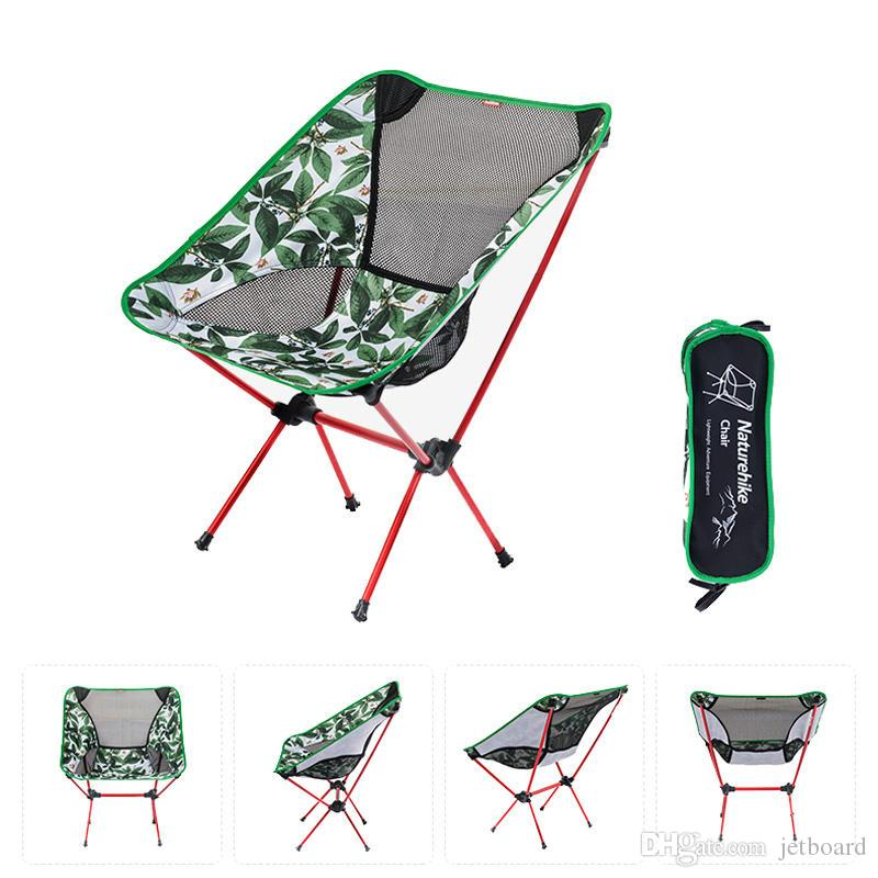 Portable Folding Chair Aluminum Alloy Max Load 90kg Outdooors Camping Hot Sale Portable Folding Camping Chairs Outdoors Ultraligh