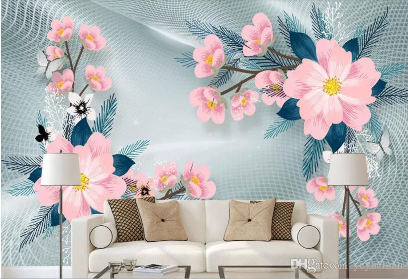 Nieprawidłowy kwiat Tapeta Tapeta Dźwiękoszczelna Tapeta Do Stereoskopowej Tapety 3D Tło Papel de Parede