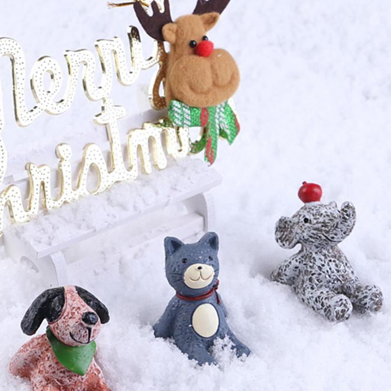 100g은 / 하얀 눈 가루 크리스마스 트리 인공 가짜 매직 인스턴트 푹신한 눈 크리스마스 장식 홈 인테리어를 들어 파티 팩