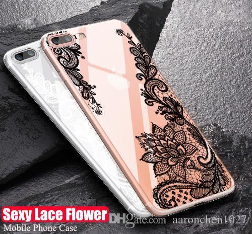Lüks Dantel Telefon Kılıfı Için iPhone 8 7 6 6 s 5 5 s SE Coque Çiçek Silikon Yumuşak Kapak iphone 6 6 s 7 8 Artı Vaka Fundas