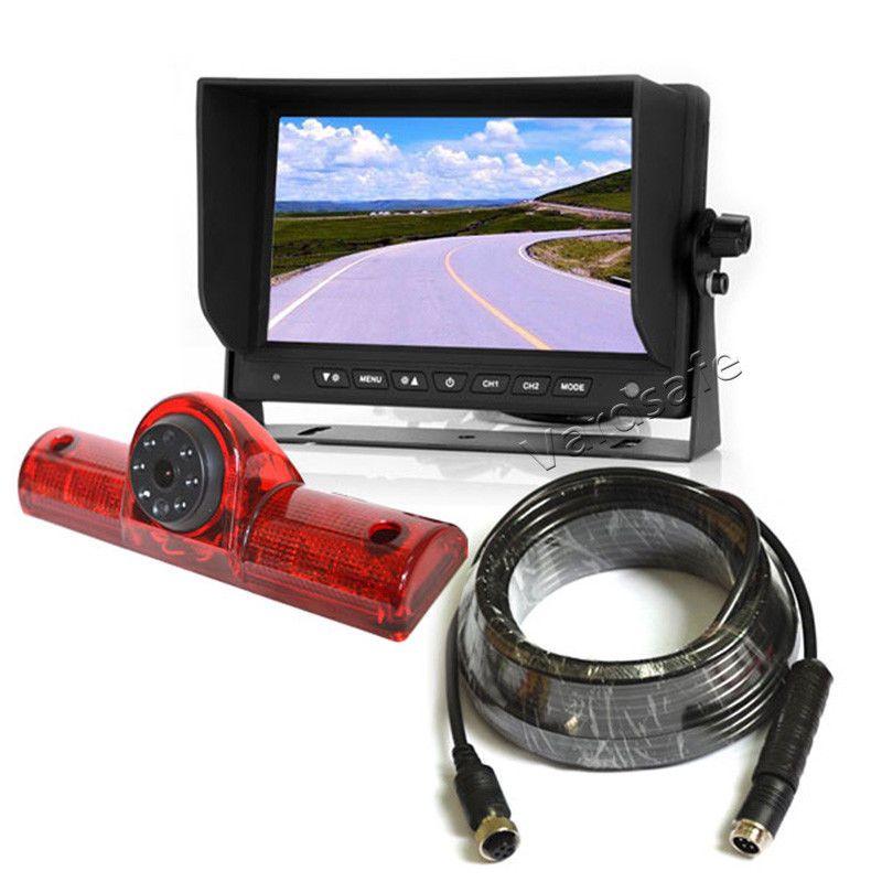 Vardsafe VS605M   RV 버스 밴 트럭 용 자동차 범용 3 브레이크 라이트 백업 카메라 키트