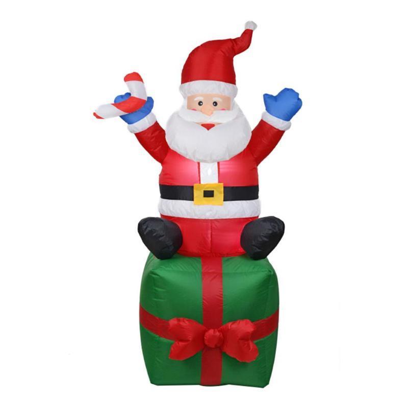 Gonfiabile Babbo Natale Natale Ornamenti all'aperto Natale Capodanno Party Home Shop Giardino Decorazione Decorazione EU Plug