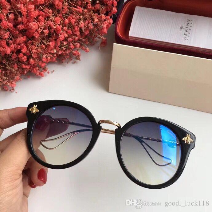 Luxe 5078 Lunettes De Soleil Pour Hommes Femmes Designer Populaire Mode Grand Style D'été Avec Les Abeilles Top Qualité UV Protection Lentille Venez Avec Cas