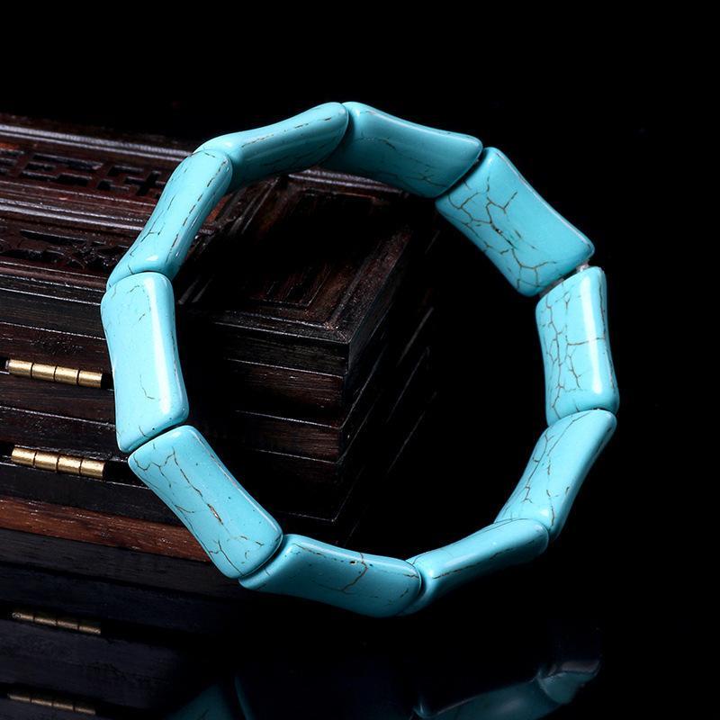 Natural Coleção Optimization Green Pine Stone Pulseira Blue Pine Mulher Com Porcelana Mão Masculino Alta Porcelana