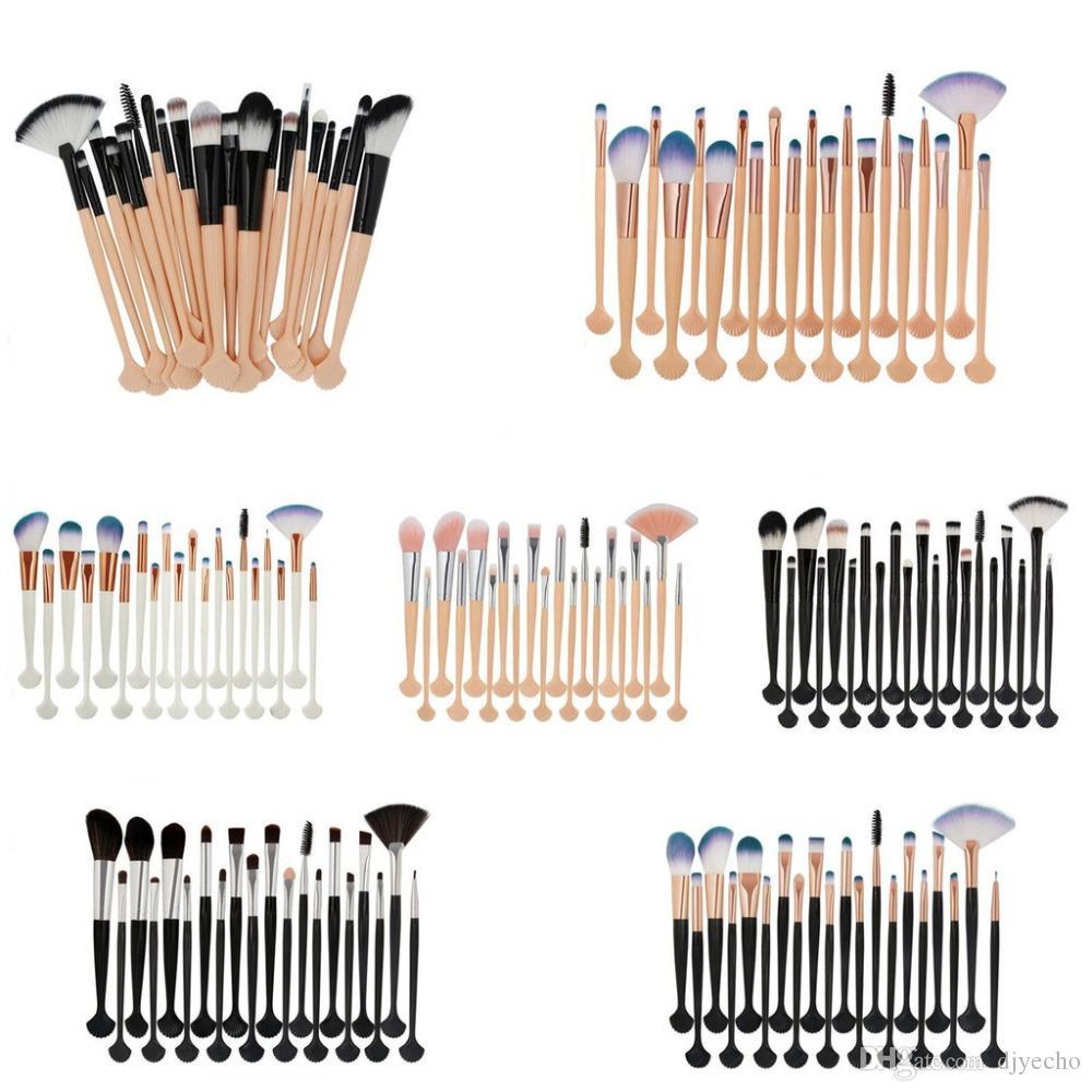 10 ADET Sentetik Saç Makyaj Fırçalar Seti Vakfı Karıştırma Toz Göz Farı Kontur Kapatıcı Allık Kozmetik Makyaj Araçları