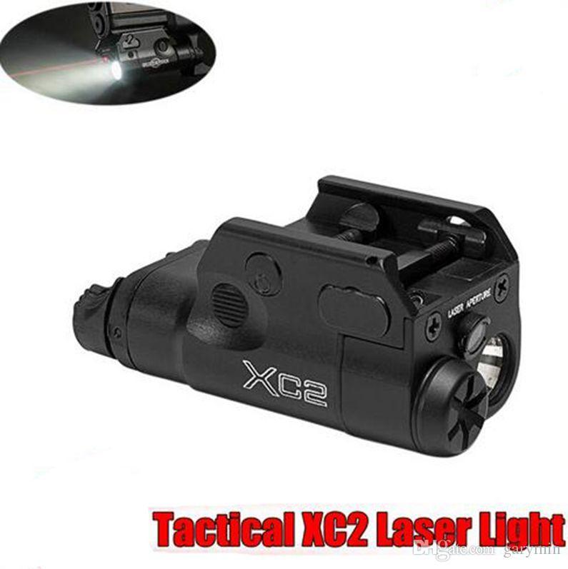 XC2 ضوء الليزر المدمجة مسدس يدوي مع ريد دوت ليزر تكتيكي LED MINI الضوء الأبيض 200 لومينز الادسنس مضيا