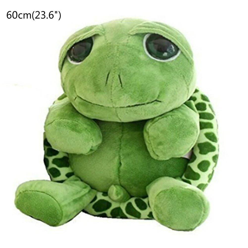 "60cm(23.6"") Large Tortoise Stuffed Animals Doll Soft Plush Toy Lifelike Giant Plush Toys Tortoise Pillow Large Realistic Stuffed"