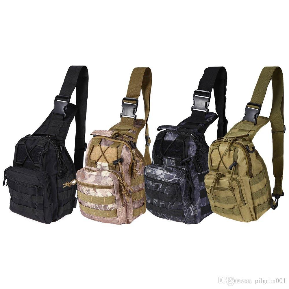 600d bag ruckack bag Щебень Водонепроницаемый рюкзак Открытый Тактический дизайнер Туризм Туризм Кемпинг Камуфляж Molle рюкзаки Мужская Спортивная сумка Лугага IJST
