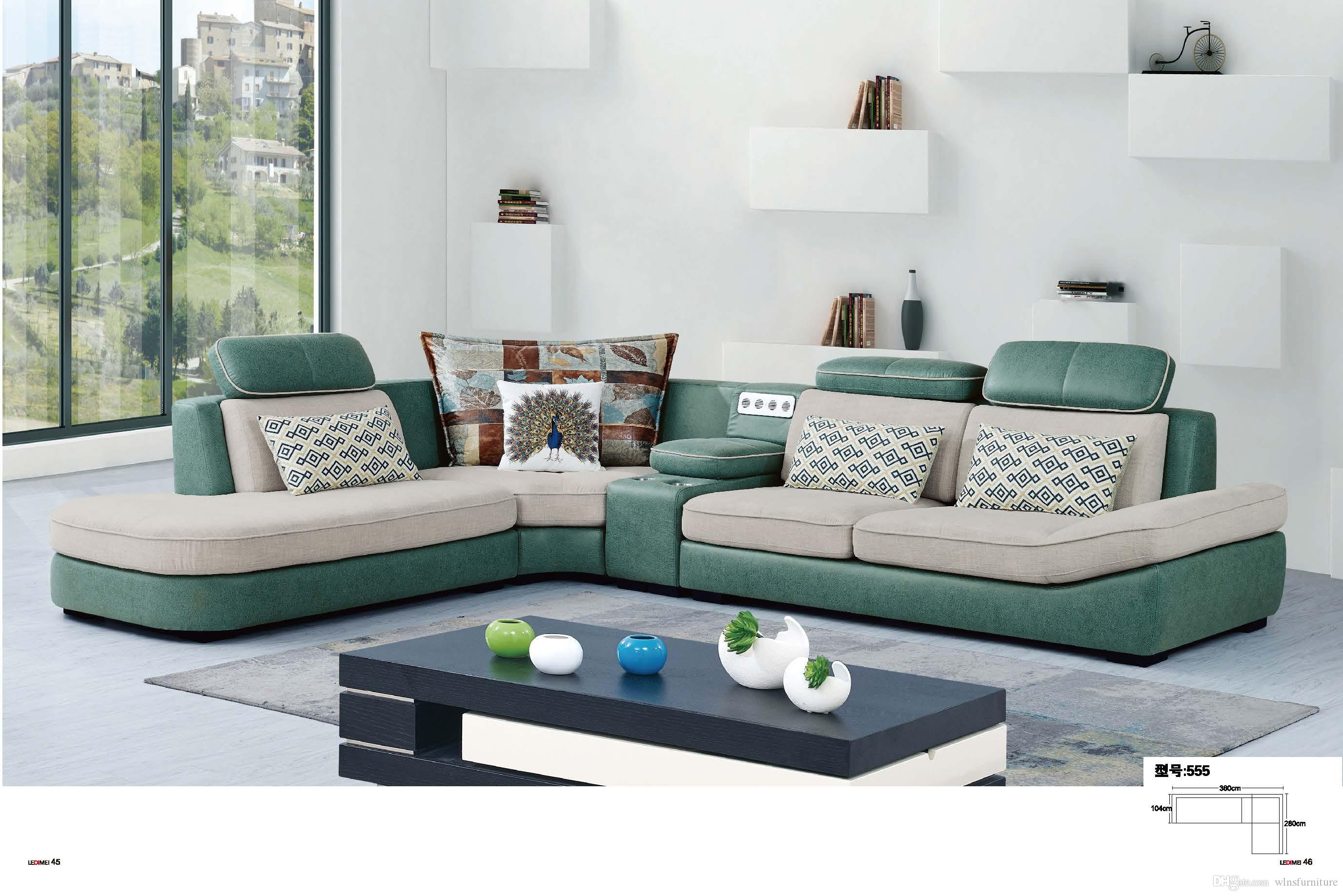 2019 L Shape Living Room Furniture Customized Of Colors And Size Mutip Choice 410x192cm U Shape Sectional Anti Bacterial Fabric Sofa Simple Style From