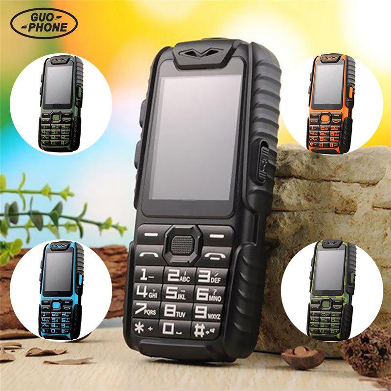 "Guophone A6 Mobile Phone 9800mAh superbattery Power Bank Phone Diario Tri-proof 2G Dual Sim 2.4 ""Con teclado ruso bluetooth celular Murcia"