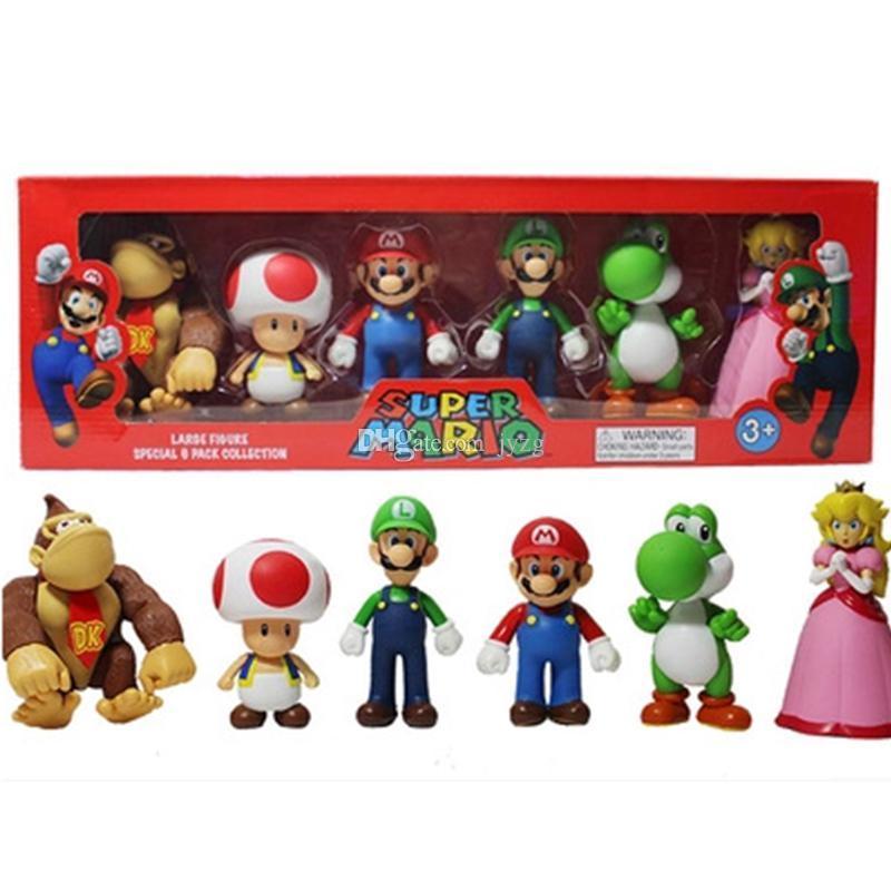 Donkey kong Bros Bowser Koopa Luigi Yoshi Mario Car Toad Peach Princess Odyssey PVC-Tätigkeits-Abbildung Modell-Puppen Spielzeug
