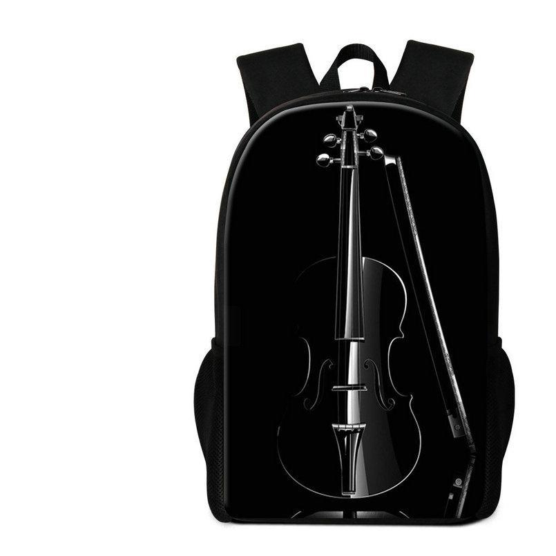 Violin Printed School Backpack For Teenagers Music Schoolbags Bookbags For Elementary Students Women Traveling Bagpacks Rugtas Child Mochila