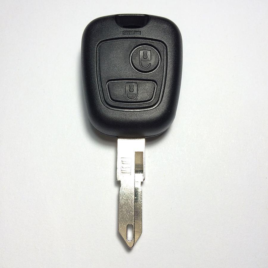 Venda quente 2 Botão Chave Caso Chave Shell Para Peugeot 206 Car Shell Chave Top A + Qualidade Frete Grátis