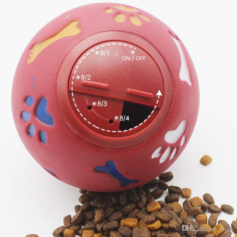 Hundespielzeug Gummiball Chew Dispenser Leckage Lebensmittel Spielball Interaktives Pet Dental Kinderkrankheiten Trainingsspielzeug Blau Rot 11 cm / 3,3''L
