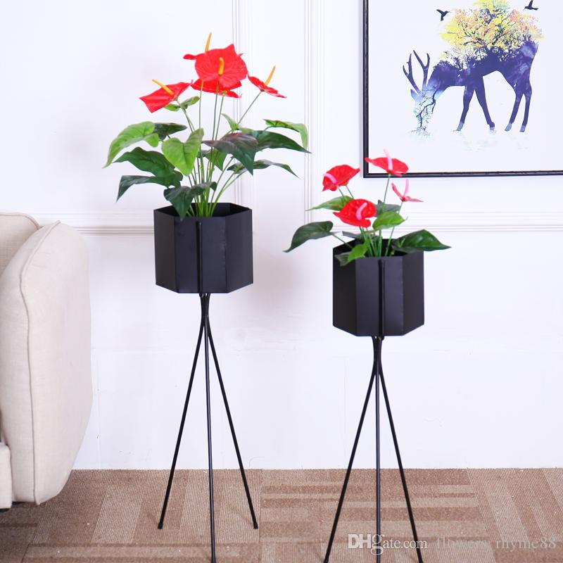 Flores artificiales real touch flores plantas falsas decoración del hogar traje de seda en maceta Anthurium ramo diy Oficina Mesa decoración Bonsai venta al por mayor