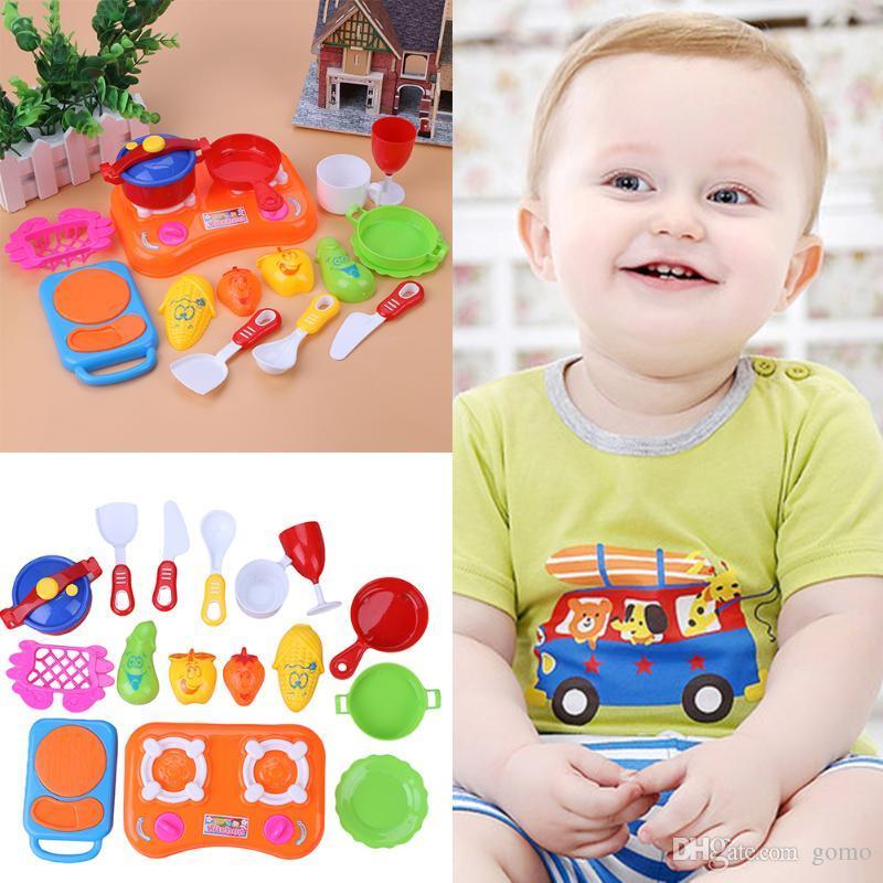 Bambino Bambini Ragazzi Ragazze Simulazione Cucina Cucinare Giocattolo Bambini Fai da te Fai finta di giocare Giocattolo da cucina in plastica Ruolo educativo Gioco giocattolo
