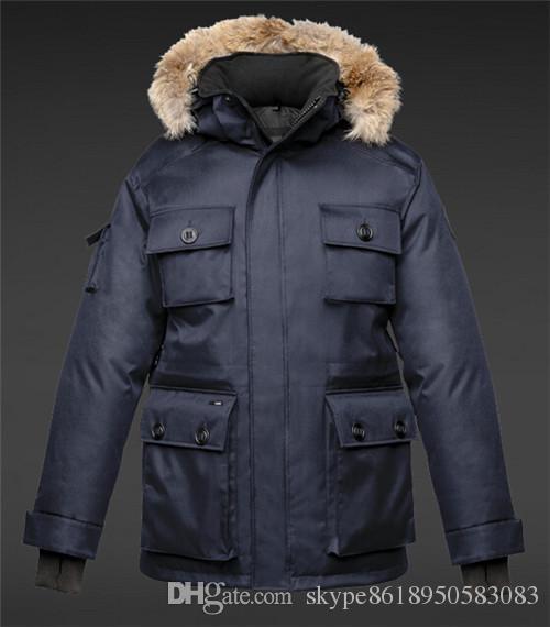 NEW! Hot Sale 2018 Top Copy Men's BARRY Colour Crosshatch Winter Jacket Arctic Coat Down Parka Hoodie With Fur Sale Sweden