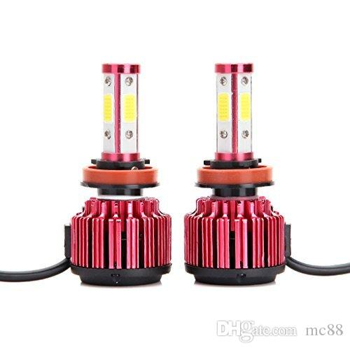 H8 H9 H11 H13 LED Headlight Bulbs 8000LM 60W Cool White 6000K Replace Low Beam/High Beam/Fog Light 360° 4 Side COB Chips Super Bright Auto