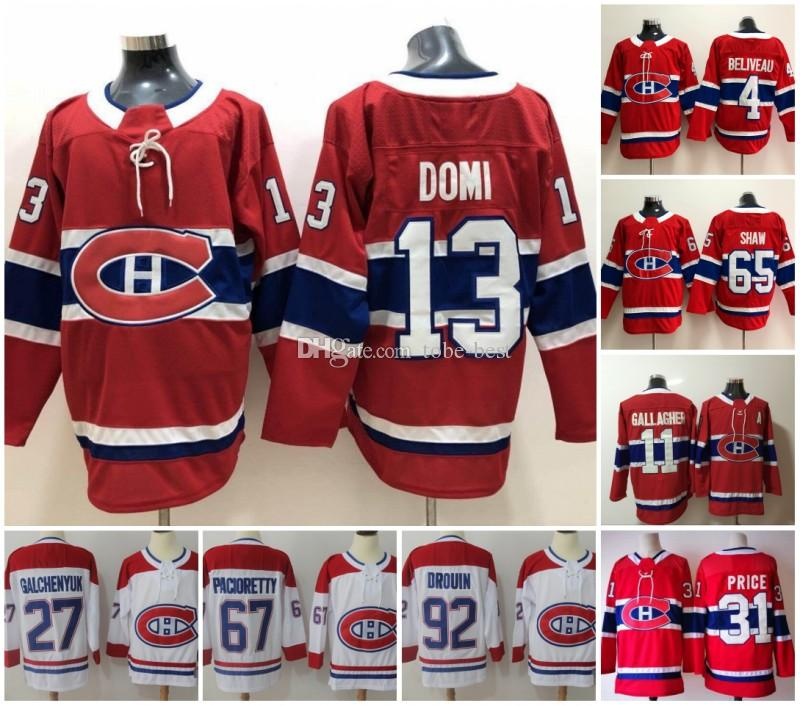 best cheap e7320 309ad 2019 2019 New 13 Max Domi Jersey Montreal Canadiens 100th Classic Hockey  Carey Price Shea Weber Andrew Shaw Brendan Gallagher Alex Galchenyuk From  ...