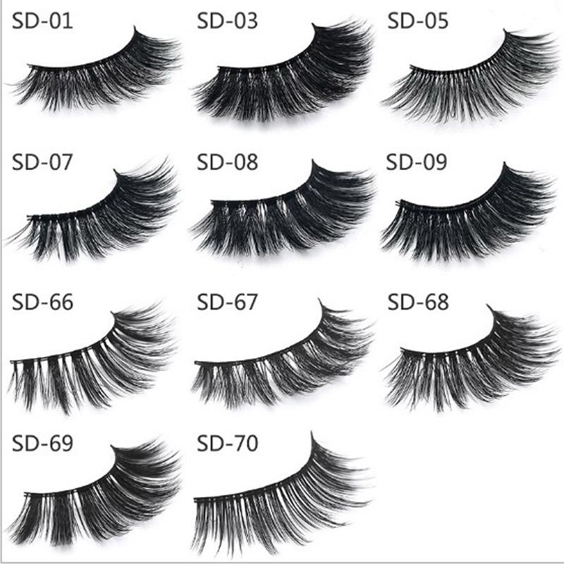 1503782e1a1 11 Styles 50Pairs Super natural 100% Mink Eyelashes Handmade false eyelash  3D strip Mink lashes thick eyelashes Makeup