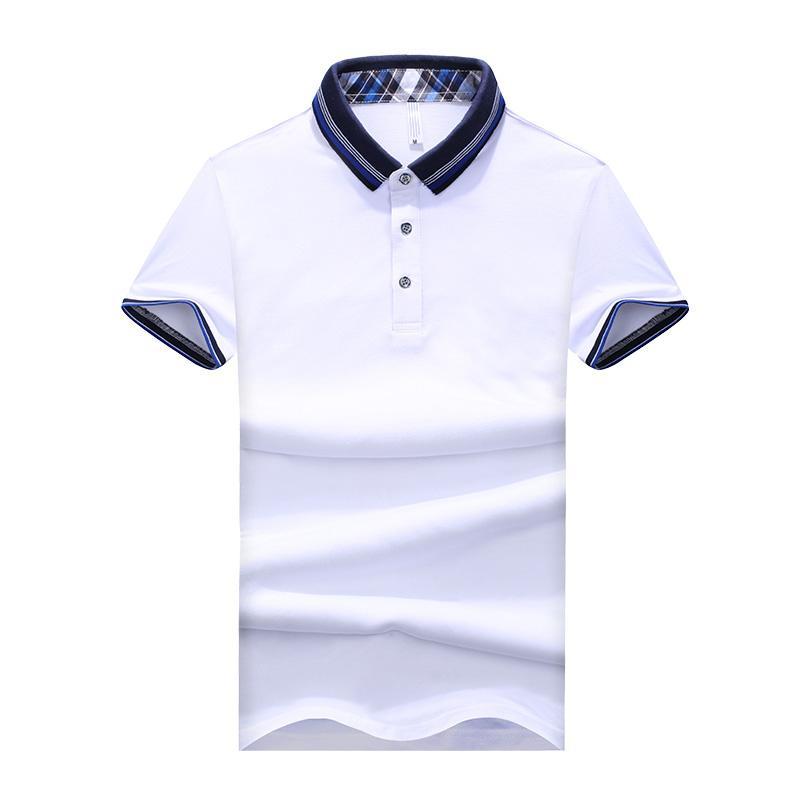 أحدث الصيف نمط قميص بولو الرجال الموضة عارضة قصيرة الأكمام camisa رجالية بولو يتأهل القطن poloshirt أوم زائد حجم 5xl الماركة