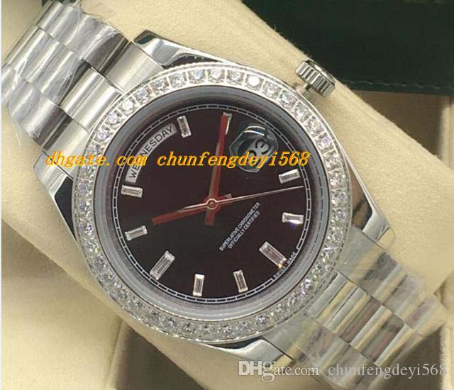 Luksusowe zegarki 4 Styl Diamond Bezel Mens 18k White Gold Diamond Dial 41mm Automatyczne Moda Marka Zegarek Męski Zegarek