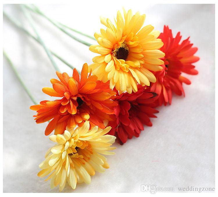 Transvaal de seda Daisy 23 Cores Barberton Daisy Flor Artificial Sol Flor Para O Casamento / Casa / Decoração Do Partido GF10004
