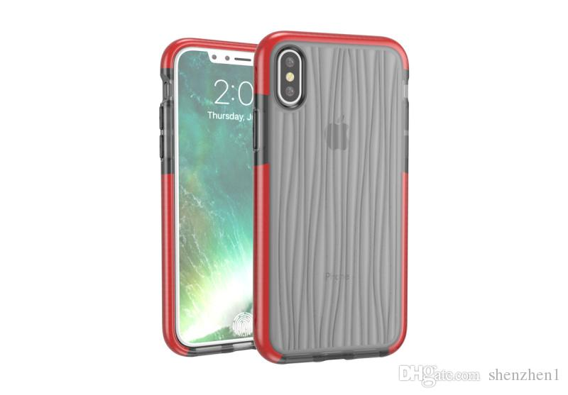 For Iphone x Case Hybrid Dual Color Clear mesh Soft TPU Mesh Drop Shockproof Back Cover Case For Iphone X 8 8plus SCA453