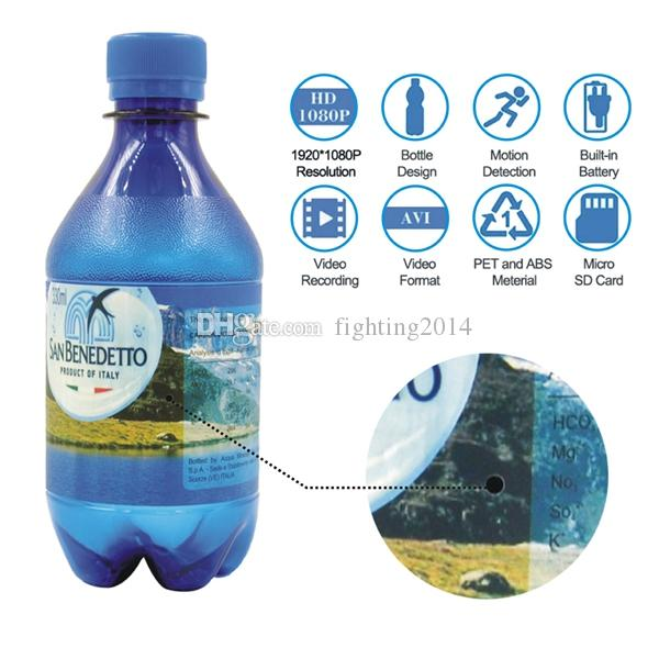 HD Water Bottle Camera True Bottle Mini Camera 1080P Water cup mini DV camera with Motion Detection Support TF card