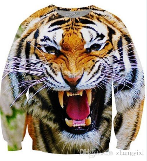 Wholesale free shipping women men 3d Animal Digital printed wolf tiger hoody tracksuit thin hoodies sportwear hoodies