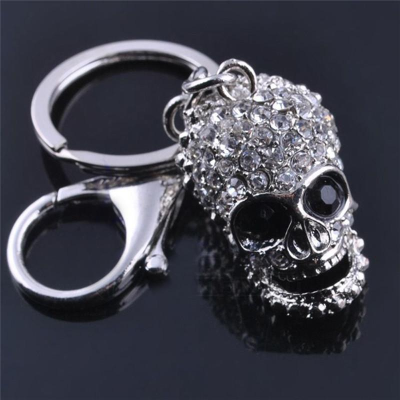 4 Styles Exquisite Crystal Skull/Wrench/Boxing Gloves/ Key Chains Keyring Metal Keychain For Men Jewelry Gift