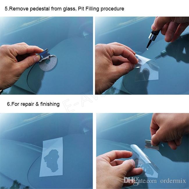 1 SZTUK Car Windscreen Windshield Glass Repair Tool Tool dla Chip Crack Bullseye Tools Set # EA10336