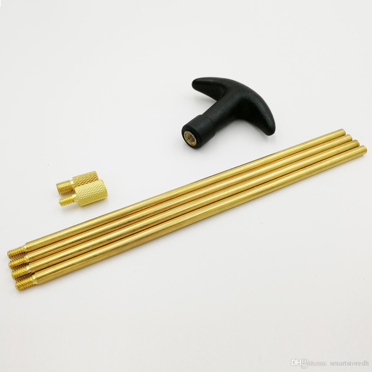 7pcs / 9pcs kit de nettoyage en laiton brosse ensemble complet pour fusil avec fusil affaire brosse de nettoyage pour fusil ensemble complet F00582