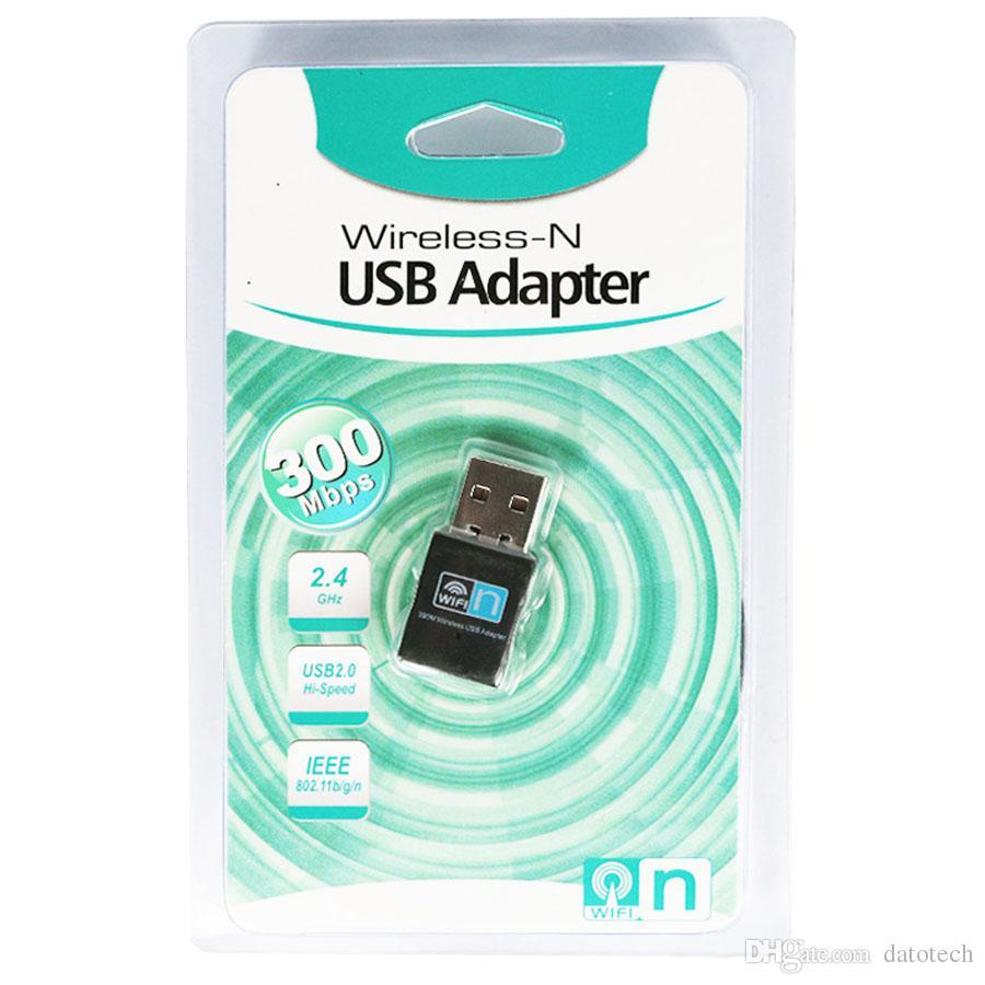 Mini 300Mbps USB2.0 WiFi 802.11 n//g//b LAN Network Card Wireless Dongle Adapter