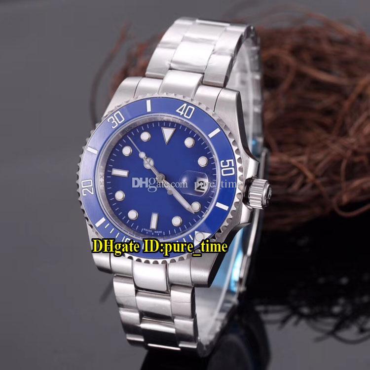Дешевые новая дата 40 мм синий циферблат азиатских 2813 автоматический 116619 мужские часы 116619LB керамический безель нержавеющая сталь группа высокое качество мужские часы