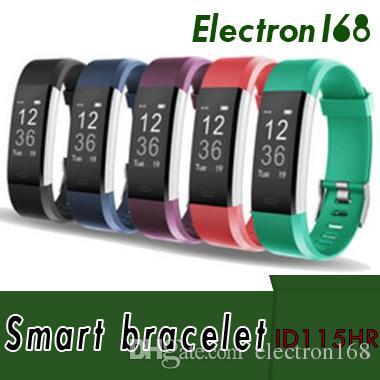 2018 ID115HR PLUS Pulsera Inteligente de Ritmo Cardíaco Deportivo Smart Band Fitness Tracker Pulsera Reloj Inteligente GPS ID115 PLUS