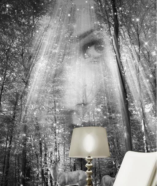 Декоративные картины настроить Европейский абстрактный рисунок 3D обои для гостиной фреска фон 3D обои диван телевизор