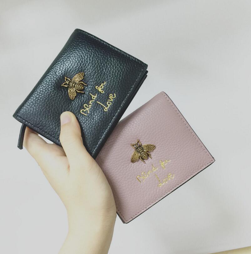 Famous Brand Womens Billeteras y Monederos Monedero Credit Card Holder Leather Luxury Billeteras pequeñas Money Clip Wallet Designer Mujeres Wellets de cuero