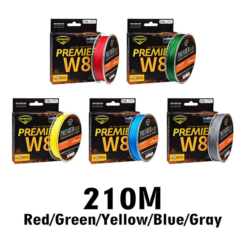 Extreme Braid 100% PE Fishing line 8 Strand Flexible Spectra lines 210m 230yards 15lb~100lb Leave a message for color